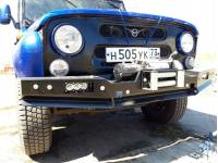 Бампер передний УАЗ 469, Хантер РУБИКОН-1 без кенгурина