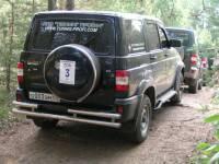 Защита заднего бампера ТП на УАЗ Патриот 01