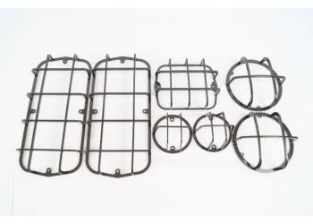Защита фонарей на УАЗ 469, 452, Буханка, Хантер, черный (Комплект 7 предметов)